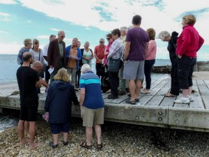 The gathering at Selsey slipway