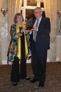 Presentation of the Len Deeley Trophy by Pat Deeley to Bob Soames